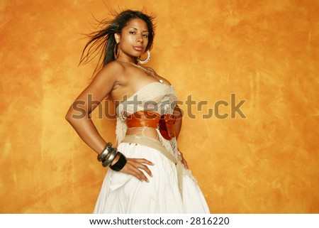 Gorgeous African American woman - stock photo