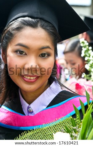 Gorgeous Asian university graduate.