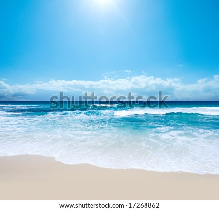 Gorgeous Australian Beach in Southern NSW - stock photo