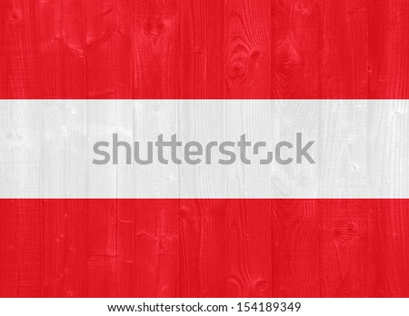 gorgeous Austria flag painted on a wood plank texture
