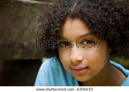Gorgeous Biracial Child - stock photo