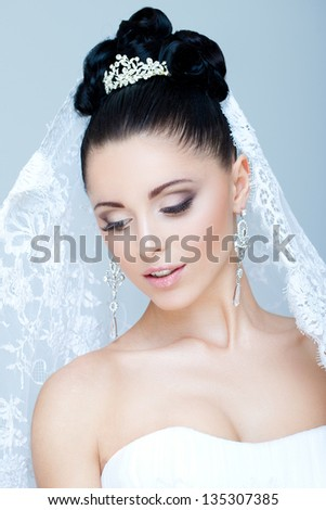 Gorgeous bride - stock photo
