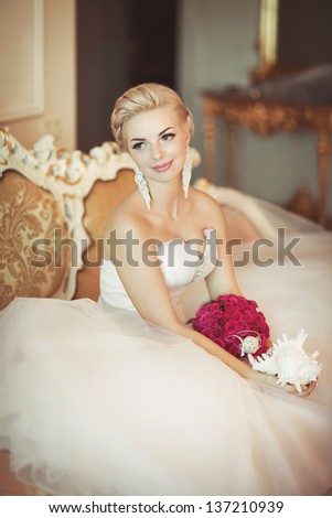 Romantic wedding stock images royalty free images for Wedding dress display at home