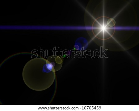 Gorgeous bright star in space - stock photo