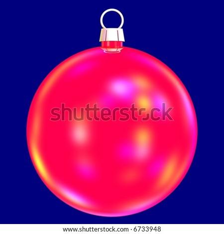 Gorgeous Christmas bauble - stock photo