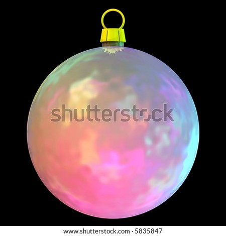 Gorgeous Christmas bauble isolated on black - stock photo