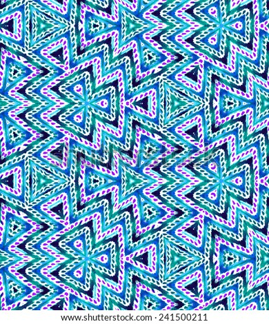 gorgeous colourful seamless ethnic pattern. Mexican chevron. also looks like an arabesque. geometric shapes.   - stock photo
