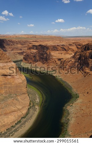 Gorgeous day at The Bend in Page, Arizona - stock photo