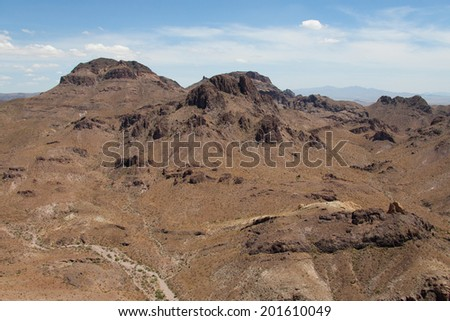 Gorgeous desert mountains with deep rich colors