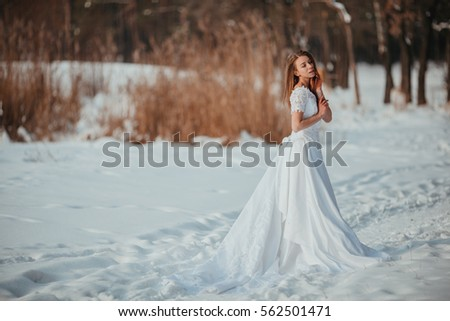 Gorgeous Girl Vintage White Wedding Dress Stock Photo (Royalty Free ...