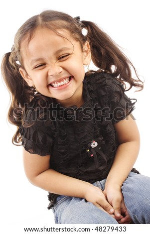 Gorgeous little girl - stock photo