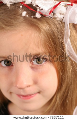 gorgeous little girl headshot upclose