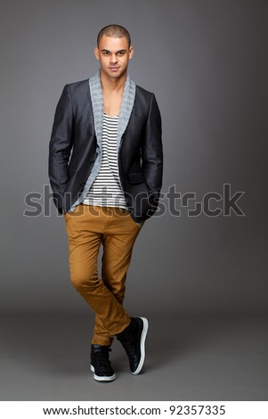 Gorgeous model posing for trendy portrait - stock photo