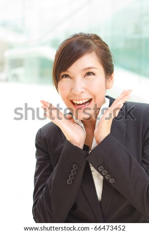 Gorgeous portrait of surprised business woman