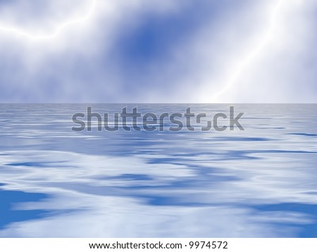 Gorgeous sky and sea background texture - stock photo