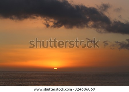 gorgeous very beautiful sunset over the sea
