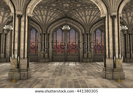 Medieval Castle Interior Stock Images Royalty Free Images