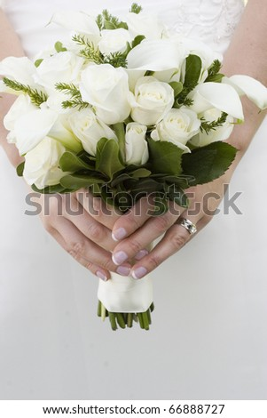 gorgeous wedding photo - stock photo