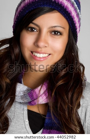 Gorgeous Winter Teen - stock photo