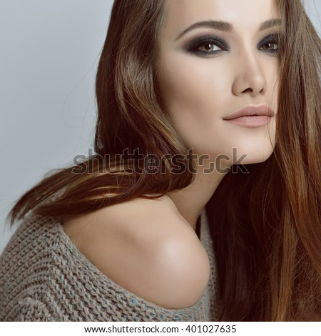 Gorgeous woman. Beauty female portrait. - stock photo
