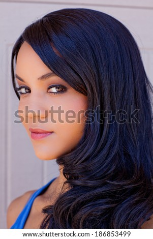 Gorgeous woman smiling at camera - stock photo