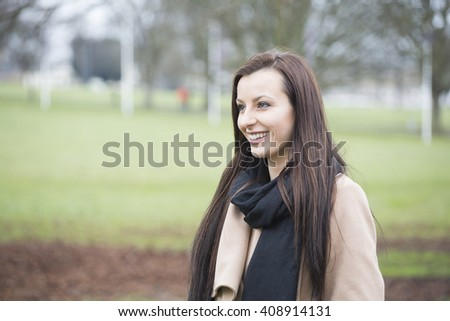 Gorgeous young woman in the park