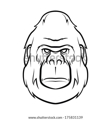 gorilla face angry stock photos images pictures shutterstock. Black Bedroom Furniture Sets. Home Design Ideas