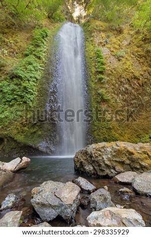 Gorton Creek Falls in Columbia River Gorge National Scenic Area Oregon - stock photo
