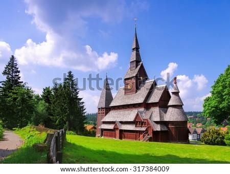 Goslar stave church - stock photo