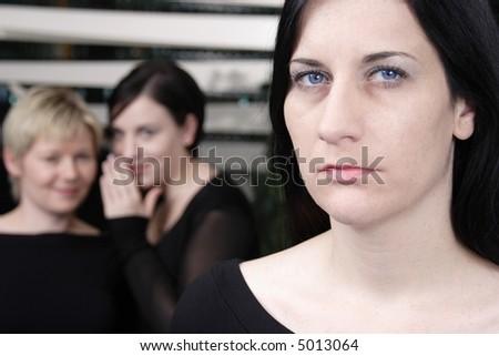 gossip 3 - stock photo