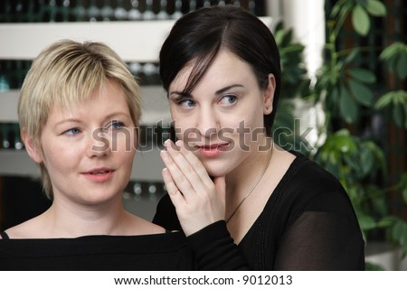 gossip 1 - stock photo