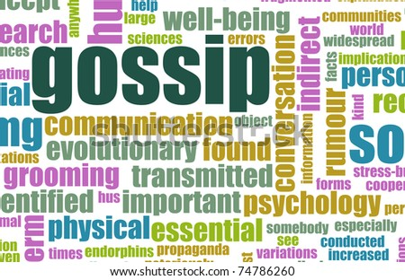 Gossip and Rumors as a Concept Background - stock photo
