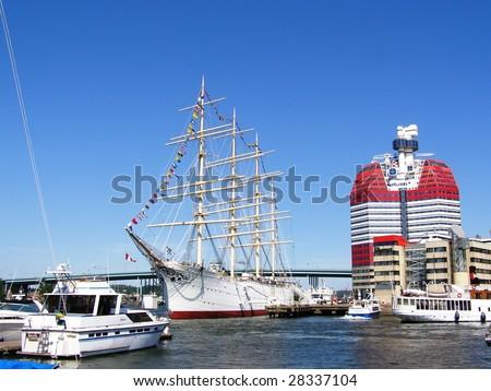 Goteborg port - stock photo