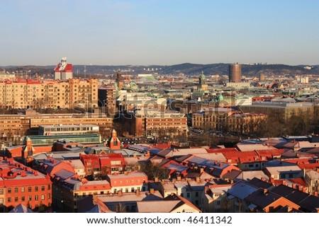 Goteborg's panorama - stock photo