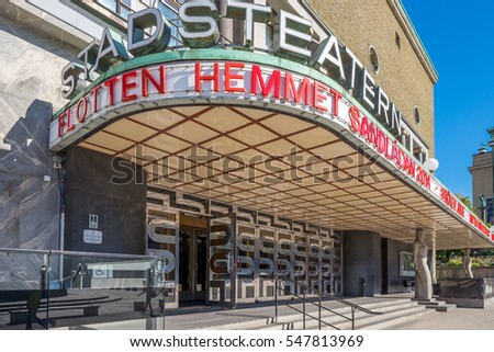 GOTHENBURG - SEPTEMBER 4: Gothenburg city theater at Gotaplatsen on September 4, 2014 in Gothenburg. This theater is one of the major stages in Sweden.,