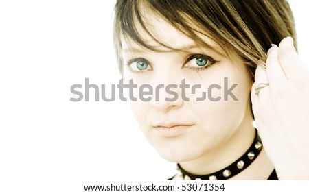 gothic beauty - stock photo