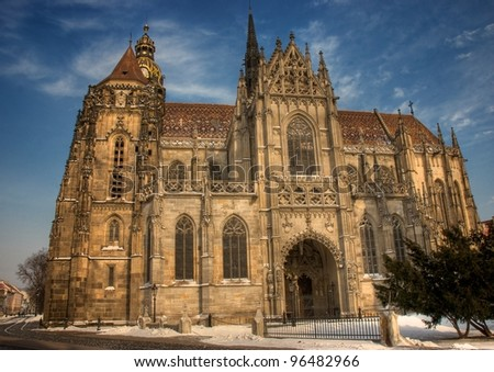 Gothic cathedral in Slovakia