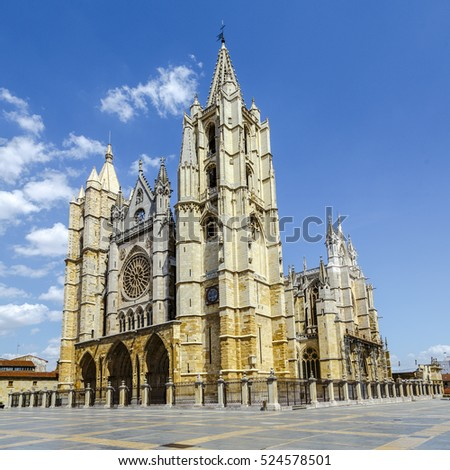 Gothic Cathedral of Leon, Spain, Europe