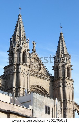 Gothic cathedral of Palma de Mallorca, Spain - stock photo