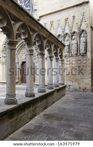 Gothic church of Santa Maria la Real, Olite, Navarra, Spain
