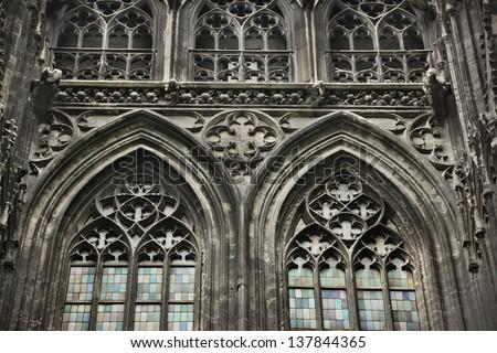 Gothic detail - stock photo