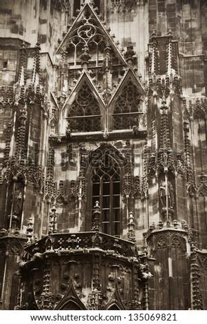 Gothic detail Vienna - stock photo
