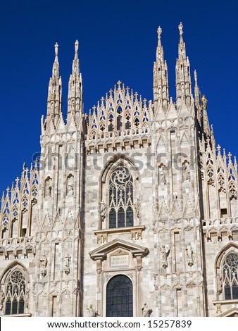 Gothic Duomo of Milan - stock photo