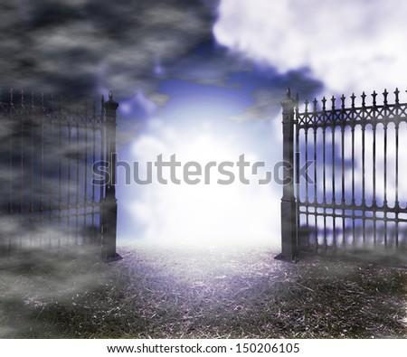 Gothic Fantasy Background - stock photo