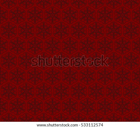 Gothic Flower Seamless Pattern Black And Red Color For Wallpaper Decoration