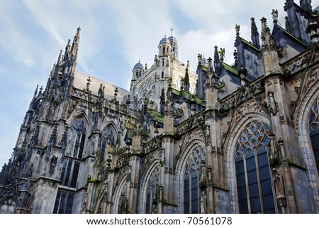 Gothic St. John's Cathedral in Den Bosch, the Netherlands - stock photo