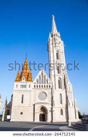Gothic St. Matthias Church in Budapest, Hungary - stock photo