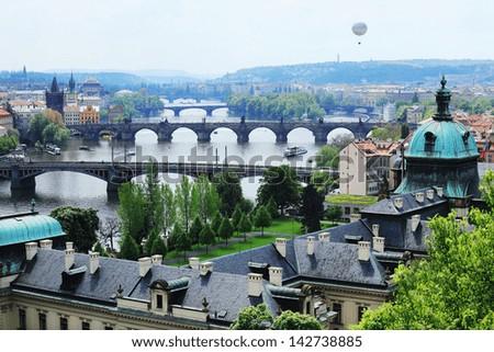 Gothic St. Vitus' Cathedral on Prague Castle, Czech Republic - stock photo