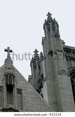 Gothic style church in San Francisco - stock photo