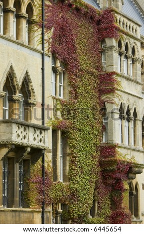 Gothic style showing the front of the famous Christchurch University in England - stock photo